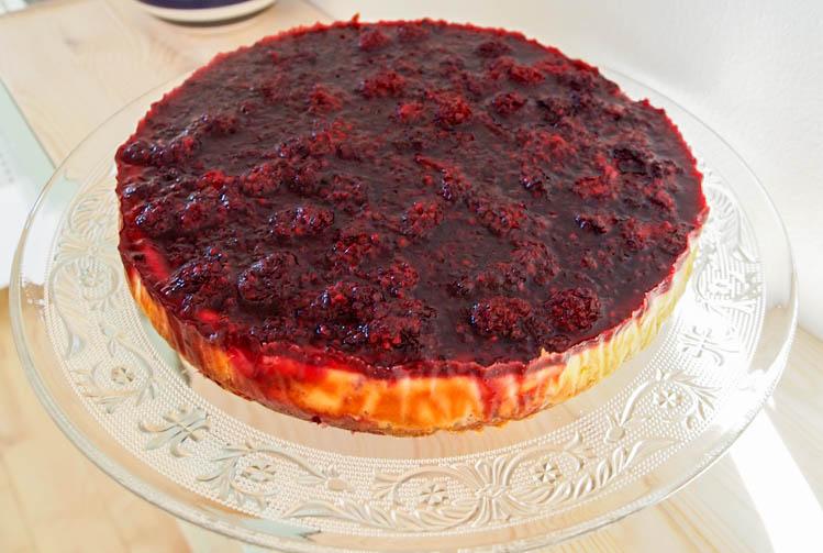Cheesecake med brombær